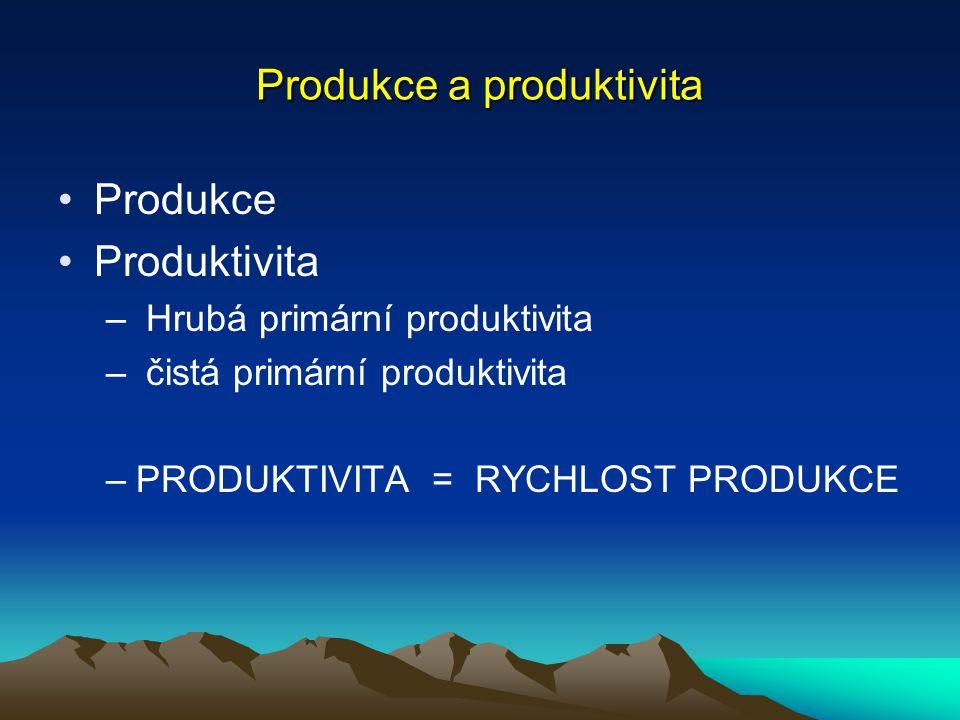 Produkce a produktivita