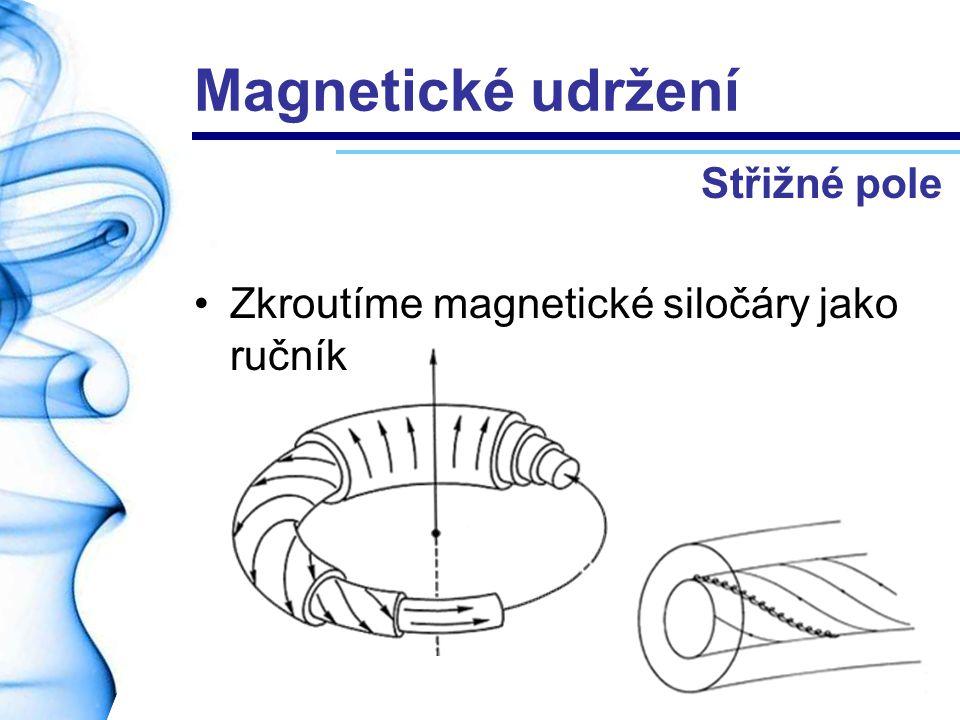 Magnetické udržení Střižné pole