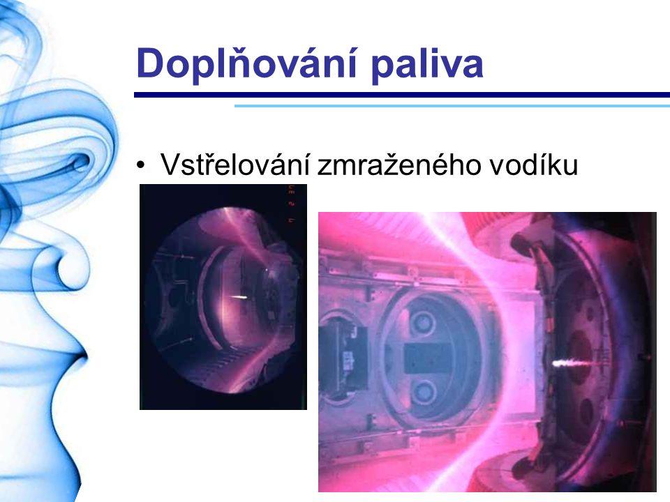 Doplňování paliva Vstřelování zmraženého vodíku