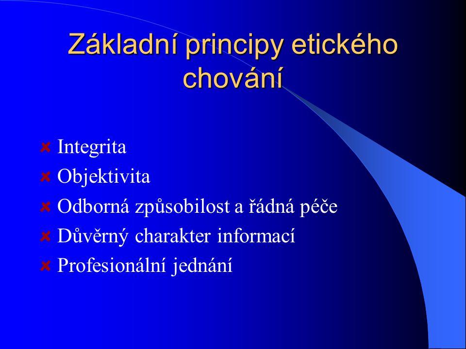 Základní principy etického chování