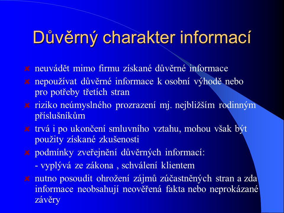 Důvěrný charakter informací
