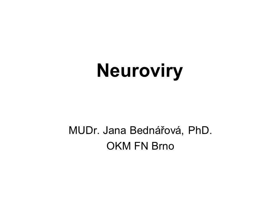 MUDr. Jana Bednářová, PhD. OKM FN Brno