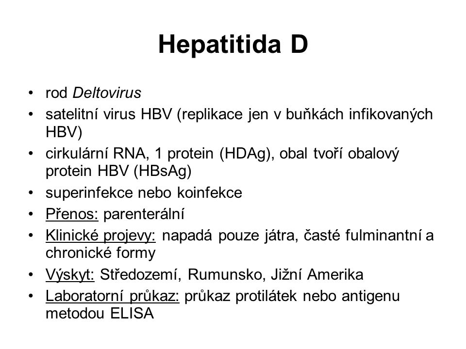 Hepatitida D rod Deltovirus