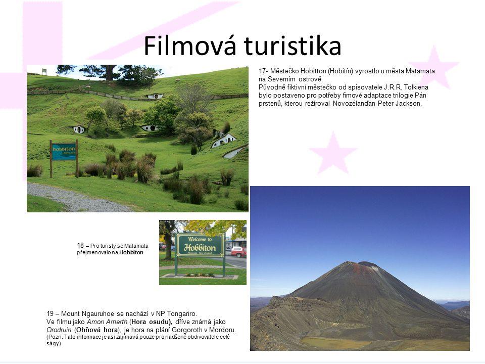 Filmová turistika 17- Městečko Hobitton (Hobitín) vyrostlo u města Matamata na Severním ostrově.