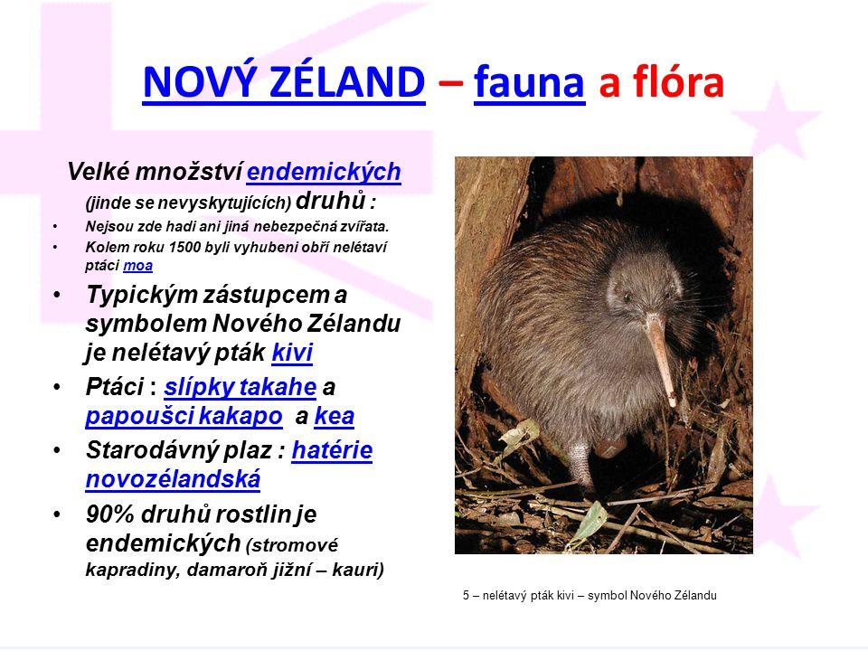 NOVÝ ZÉLAND – fauna a flóra