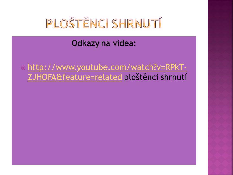 Ploštěnci shrnutí Odkazy na videa: