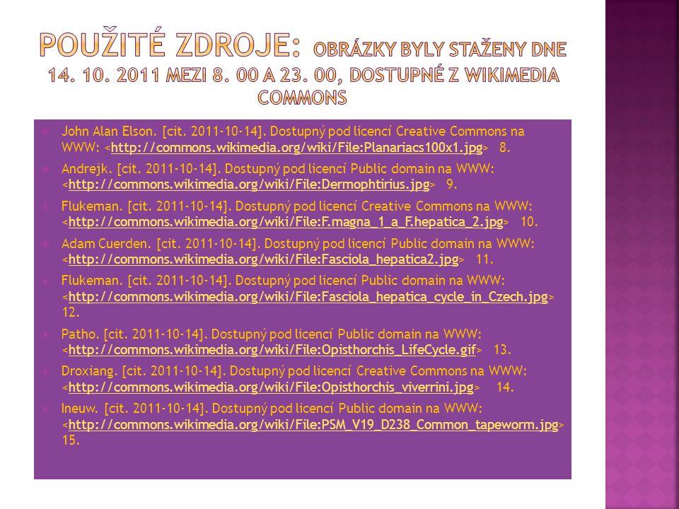 Použité zdroje: Obrázky byly staženy dne 14. 10. 2011 mezi 8. 00 a 23