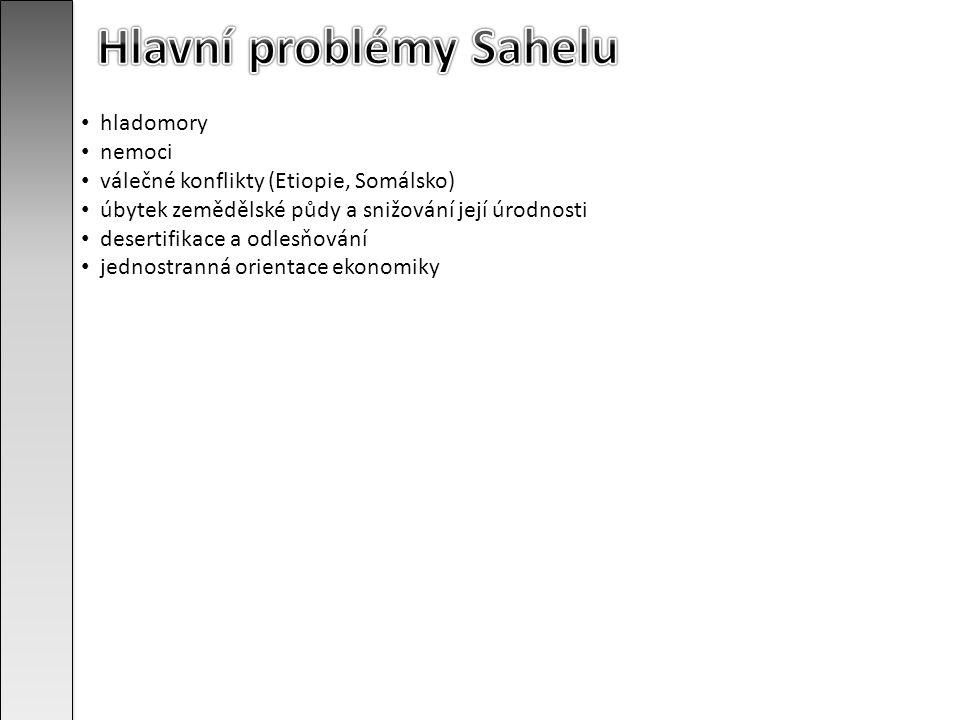 Hlavní problémy Sahelu