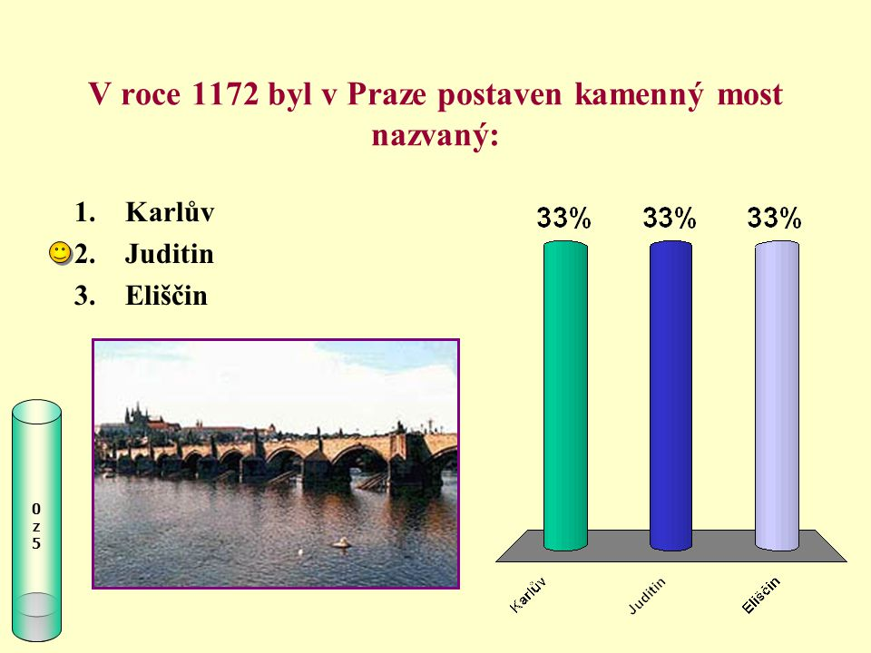 V roce 1172 byl v Praze postaven kamenný most nazvaný: