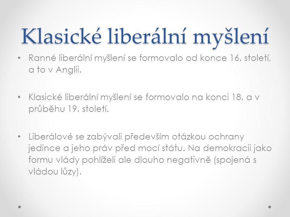 Klasické liberální myšlení