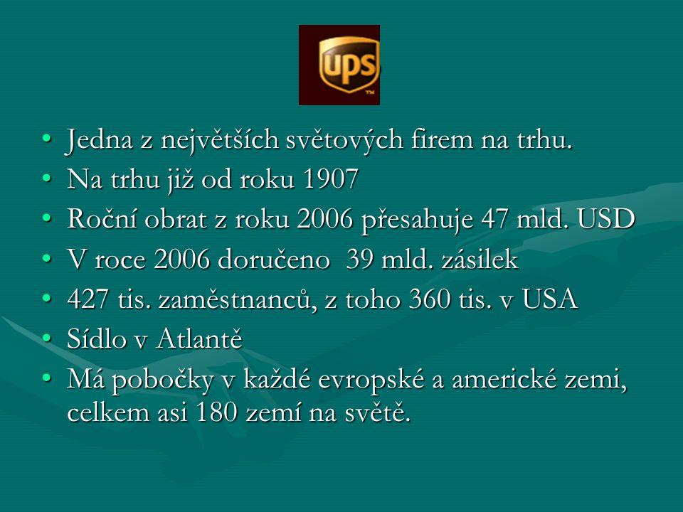 UPS Jedna z největších světových firem na trhu.