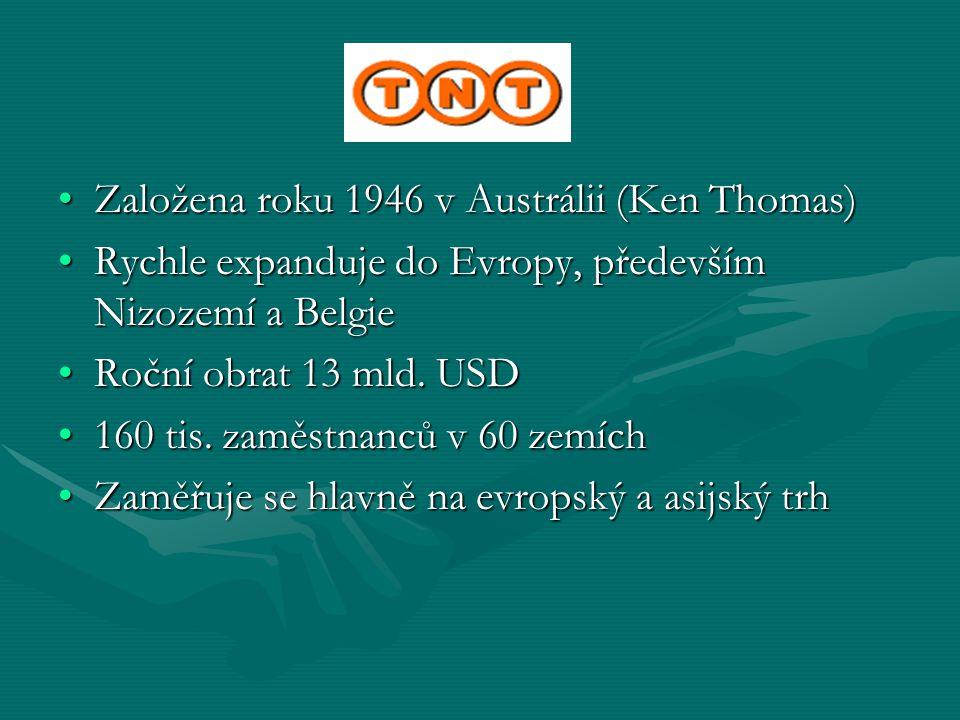 TNT Založena roku 1946 v Austrálii (Ken Thomas)