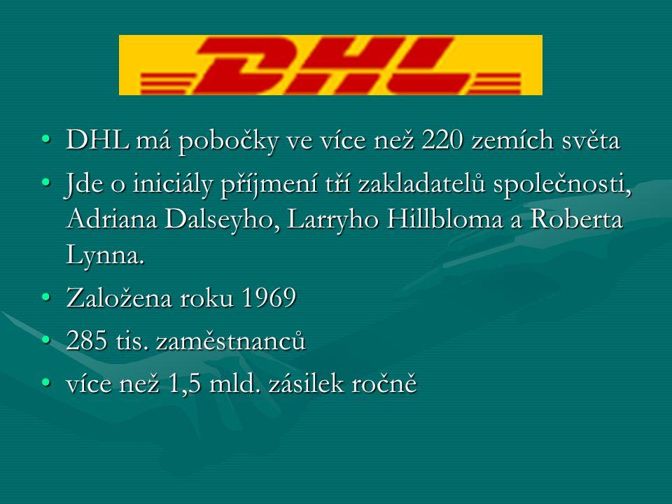 DHL má pobočky ve více než 220 zemích světa
