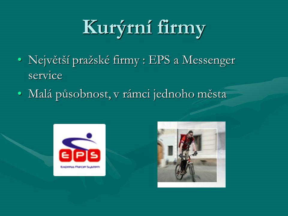 Kurýrní firmy Největší pražské firmy : EPS a Messenger service