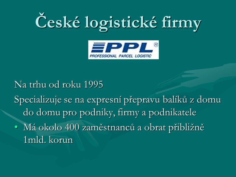 České logistické firmy