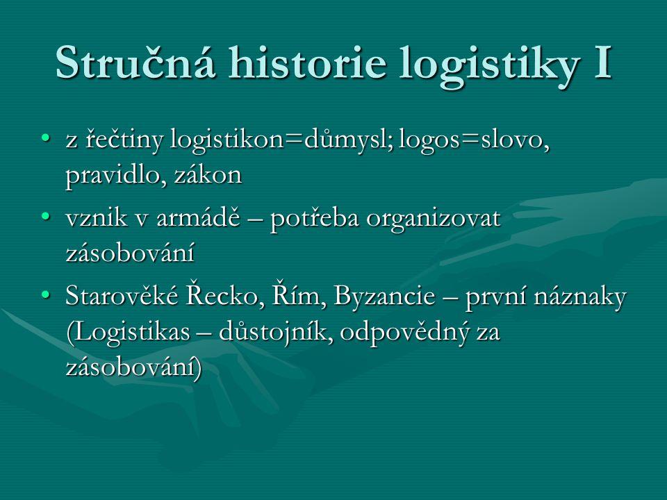 Stručná historie logistiky I