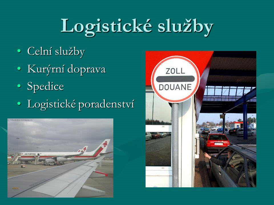 Logistické služby Celní služby Kurýrní doprava Spedice