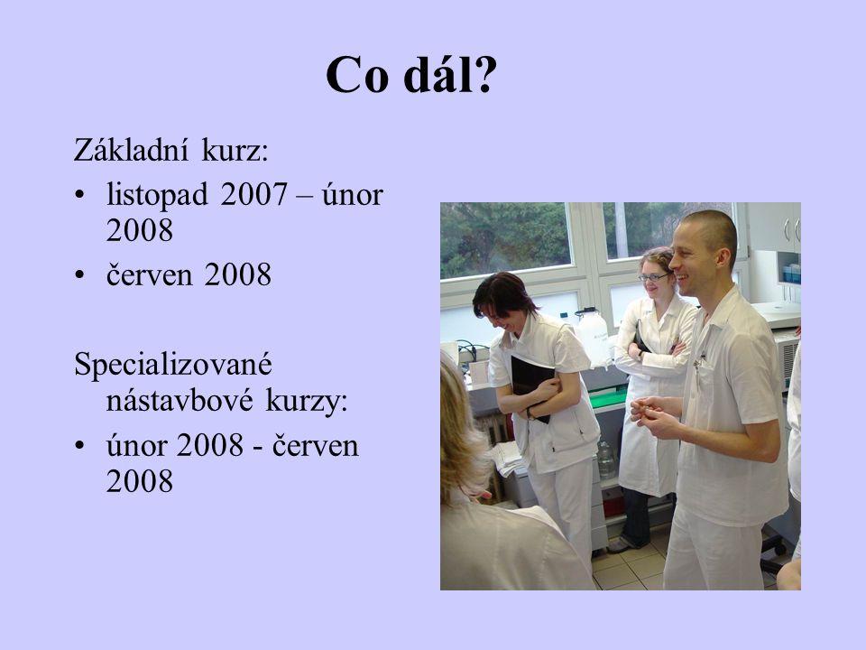 Co dál Základní kurz: listopad 2007 – únor 2008 červen 2008