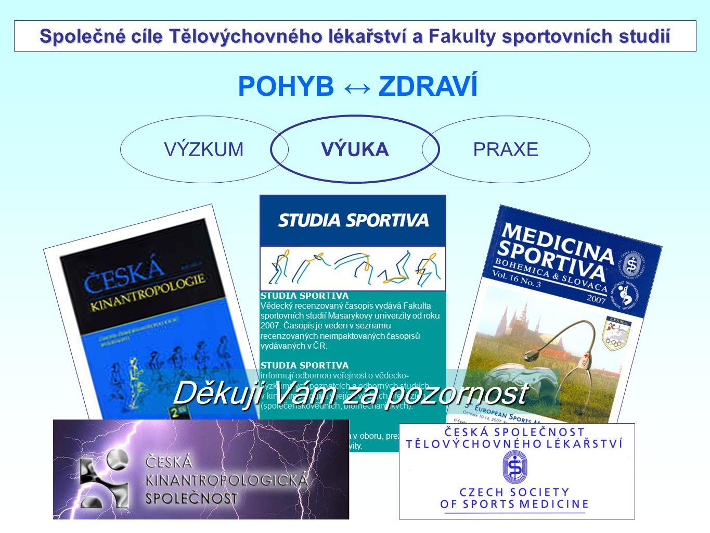 Společné cíle Tělovýchovného lékařství a Fakulty sportovních studií
