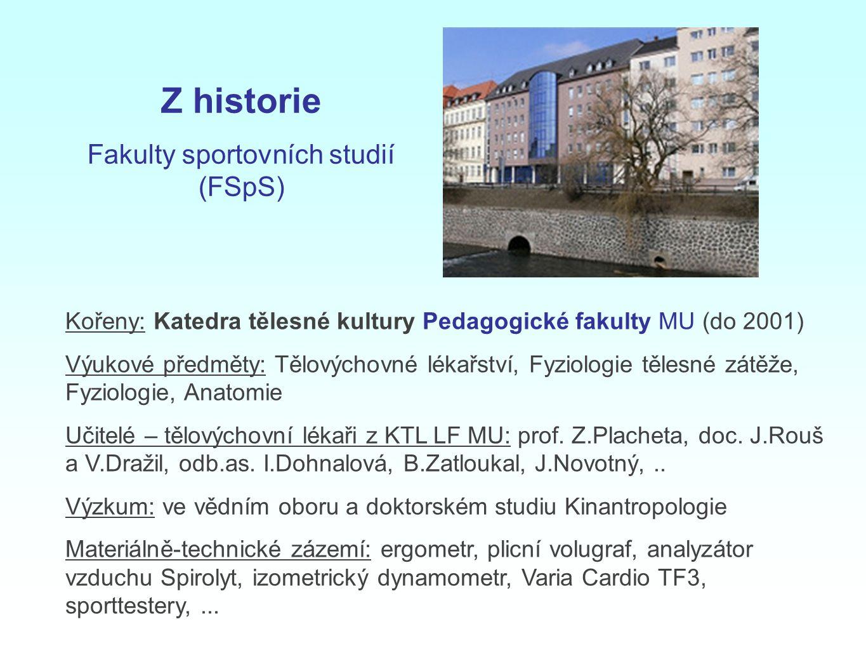 Fakulty sportovních studií (FSpS)