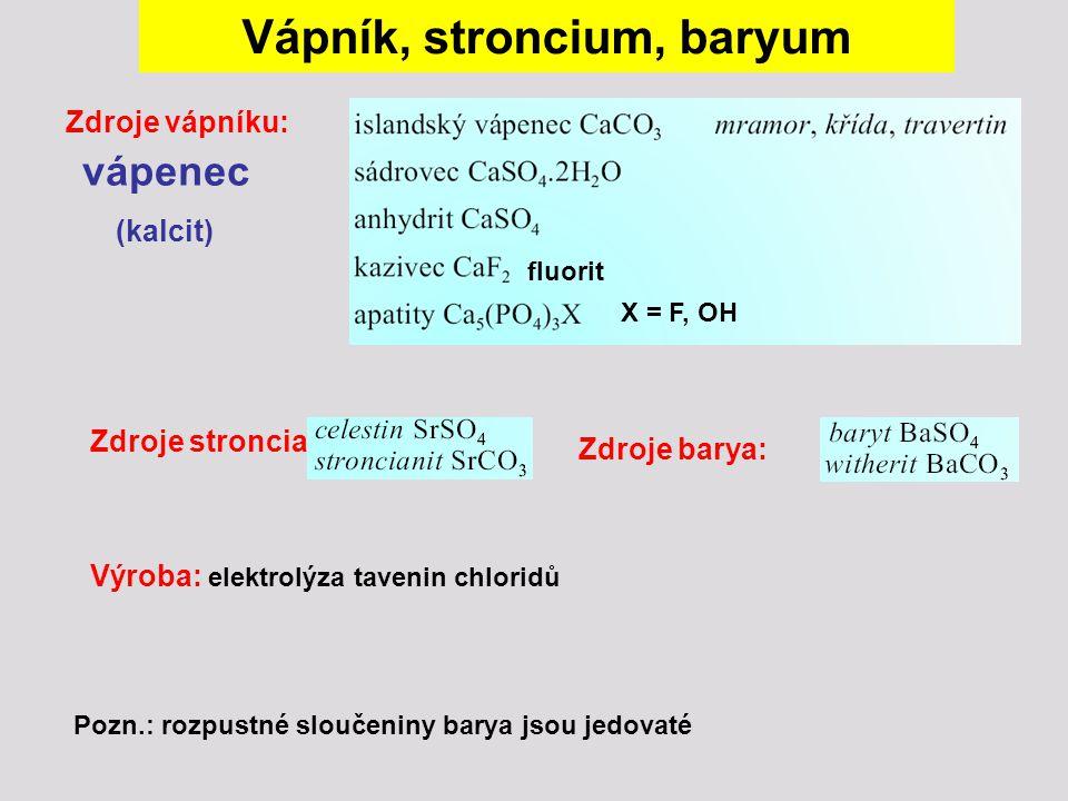 Vápník, stroncium, baryum