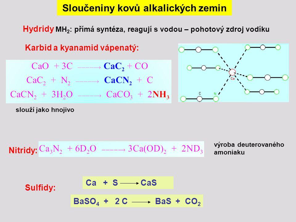 Sloučeniny kovů alkalických zemin