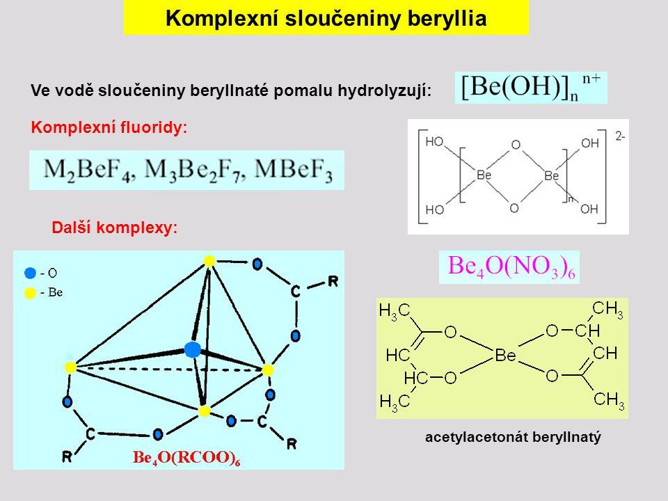 Komplexní sloučeniny beryllia