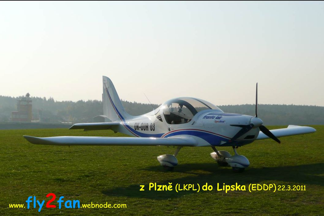 z Plzně (LKPL) do Lipska (EDDP) 22.3.2011