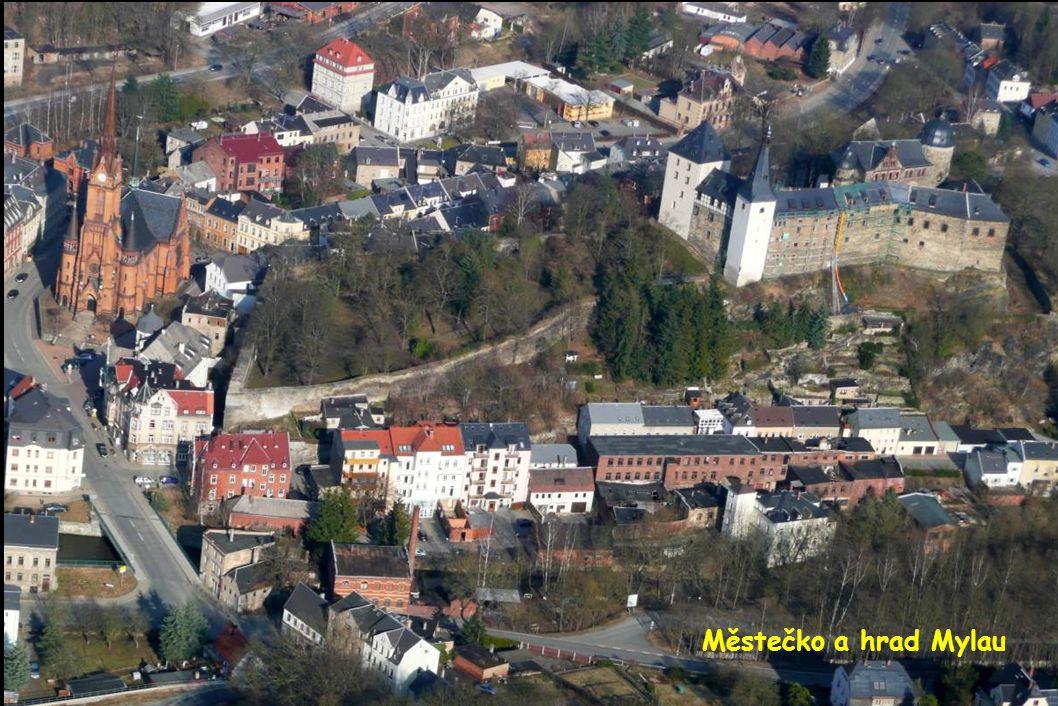 Městečko a hrad Mylau