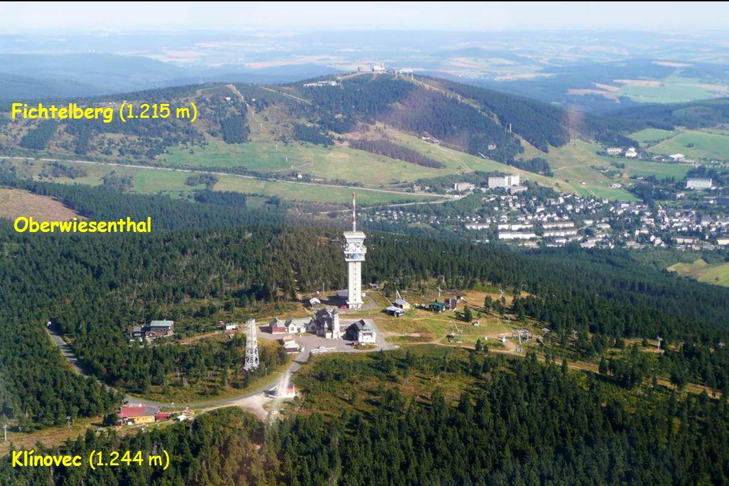 Fichtelberg (1.215 m) Oberwiesenthal Klínovec (1.244 m)
