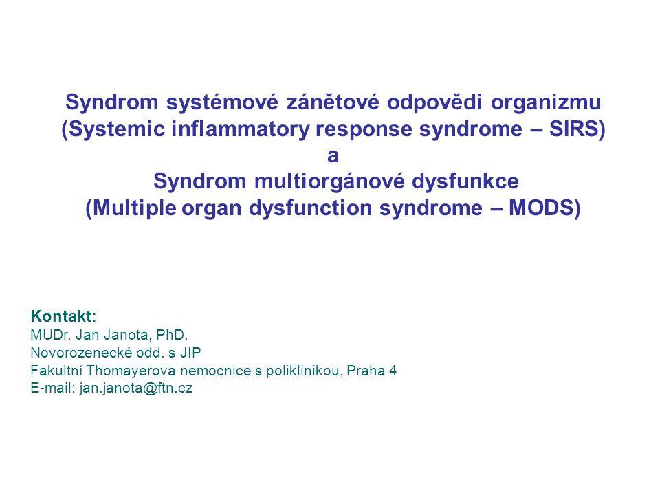 Syndrom systémové zánětové odpovědi organizmu