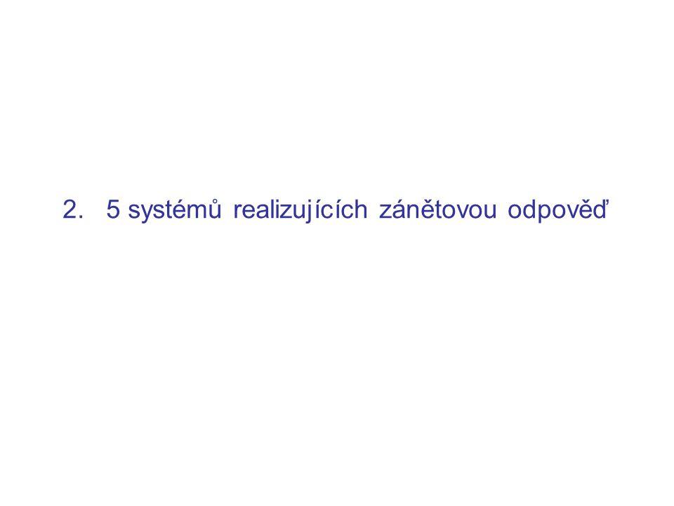 2. 5 systémů realizujících zánětovou odpověď
