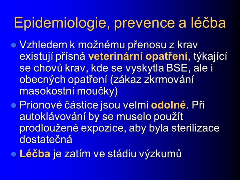 Epidemiologie, prevence a léčba