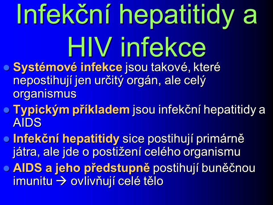 Infekční hepatitidy a HIV infekce