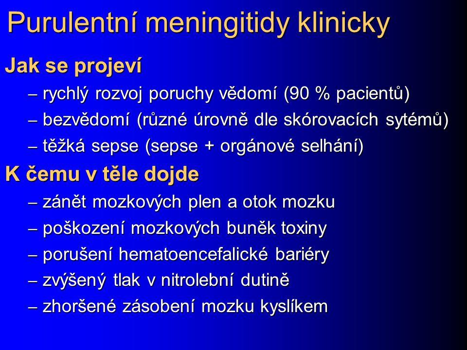Purulentní meningitidy klinicky