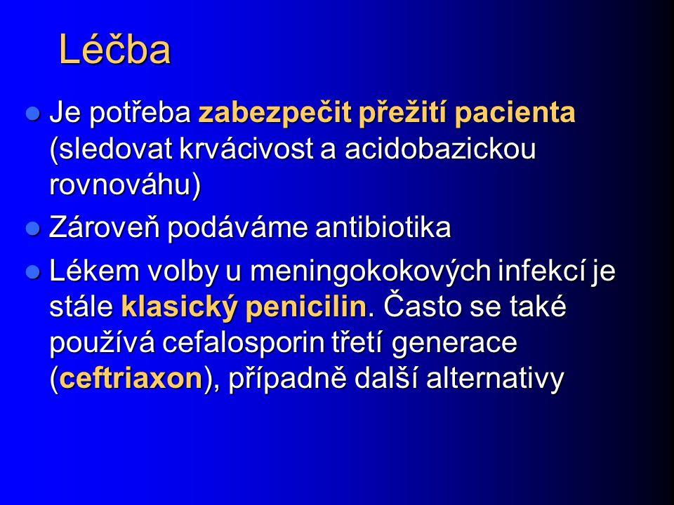 Léčba Je potřeba zabezpečit přežití pacienta (sledovat krvácivost a acidobazickou rovnováhu) Zároveň podáváme antibiotika.