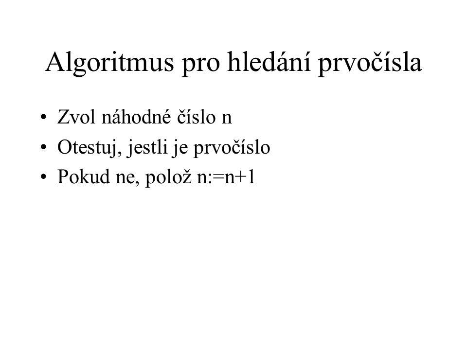 Algoritmus pro hledání prvočísla