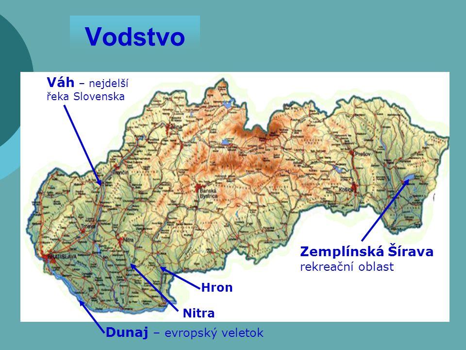 Vodstvo Váh – nejdelší řeka Slovenska