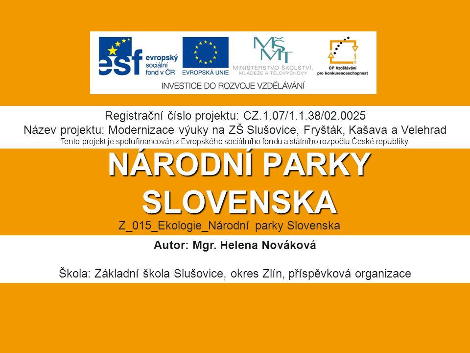NÁRODNÍ PARKY SLOVENSKA