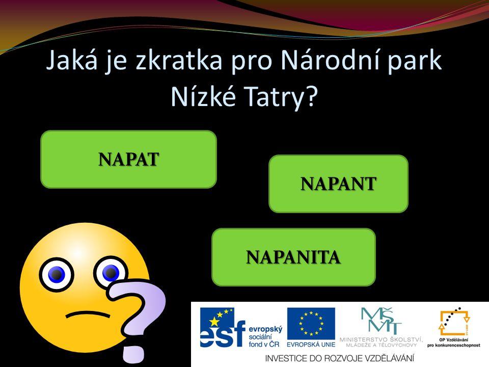 Jaká je zkratka pro Národní park Nízké Tatry