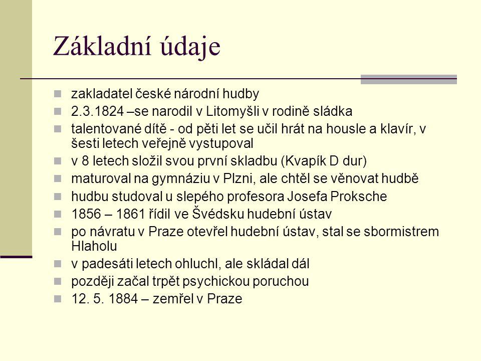 Základní údaje zakladatel české národní hudby