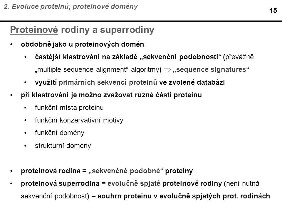 Proteinové rodiny a superrodiny