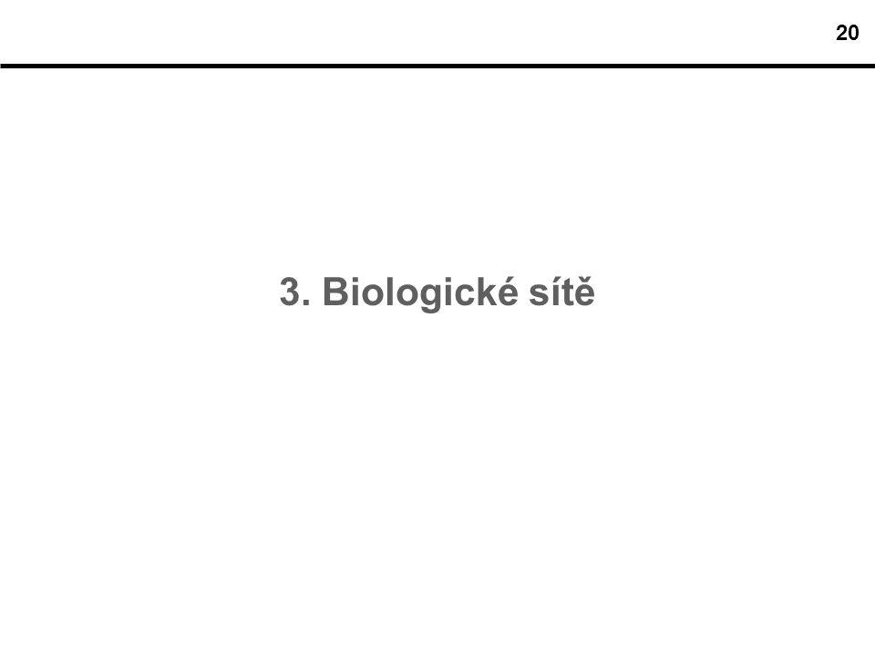 20 3. Biologické sítě