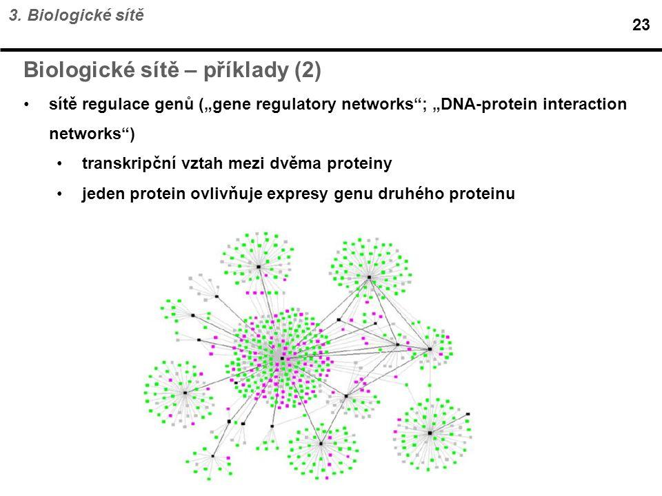 Biologické sítě – příklady (2)
