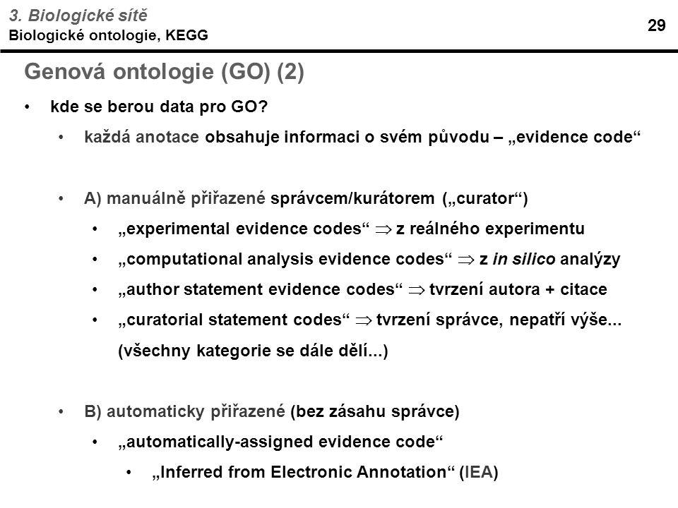 Genová ontologie (GO) (2)