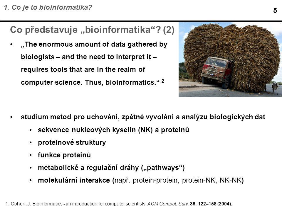 """Co představuje """"bioinformatika (2)"""