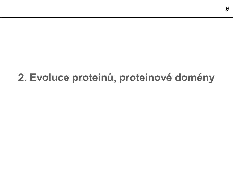 2. Evoluce proteinů, proteinové domény