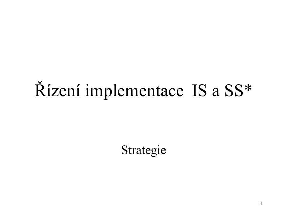 Řízení implementace IS a SS*
