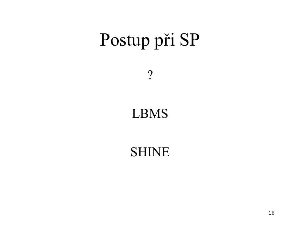 Postup při SP LBMS SHINE