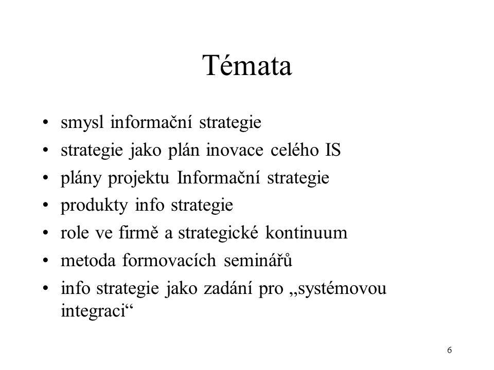 Témata smysl informační strategie